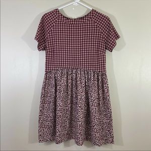 Topshop Womens Pattern Short Dress Size US 2